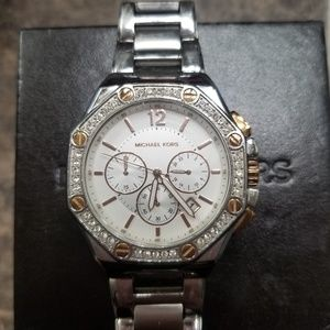 Silver and Rose Gold Michael Kors watch